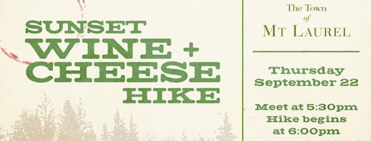 Sunset Wine and Cheese Hike in Mt Laurel