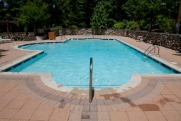 The Mt Laurel community pool offers hours of fun for neighborhood residents.
