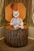 Whimsical woodland décor creates a magical place for children to read at the Mt Laurel Library.