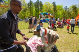 The community gathers together for family fun at the Mt Laurel Spring Festival.