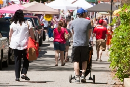 Residents shop local vendors and stroll town sidewalks during the Mt Laurel Spring Festival.